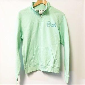 PINK VS Quarterzip pullover sweatshirt SMALL